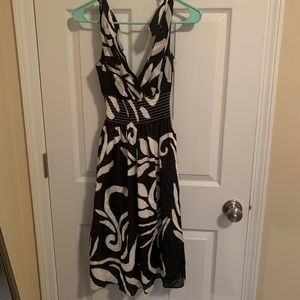 Black and White Patterned Sundress Size 2
